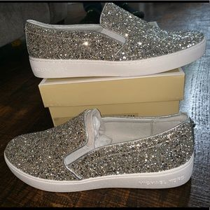 Sparkly Micheal Kors slip on shoes